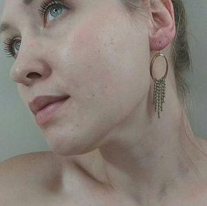 Oval Shaped Dangly Earrings